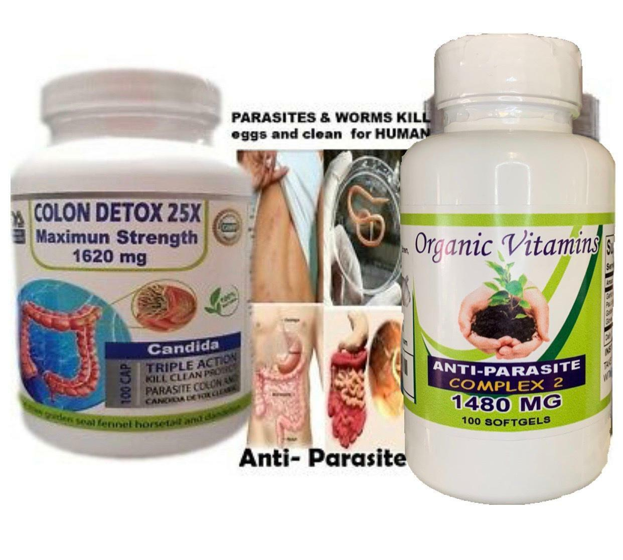 PARASITES & WORMS KILL eggs and clean - HUMAN - (TREAT & PREVENT)