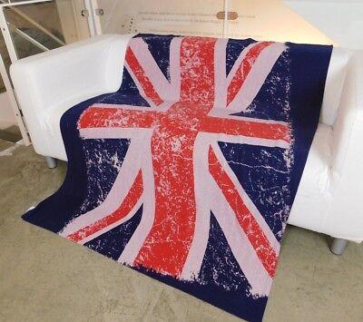 70 UNION JACK Wolldecke Kuscheldecke DECKE UK Flag NEU  (Veranda Flags)