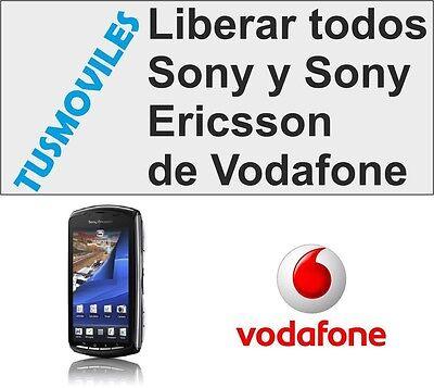 LIBERAR UNLOCK SONY Y SONY ERICSSON VODAFONE XPERIA Z J S ARC...