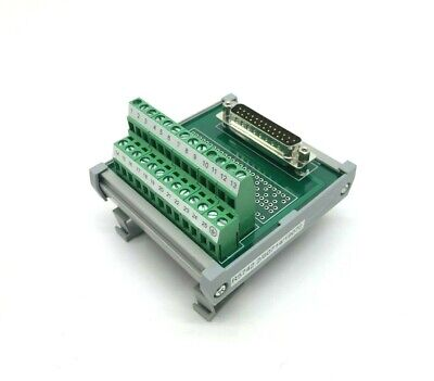 Connectwell 25-wire Terminal Block To Parallel Connector Port Din Rail Mount