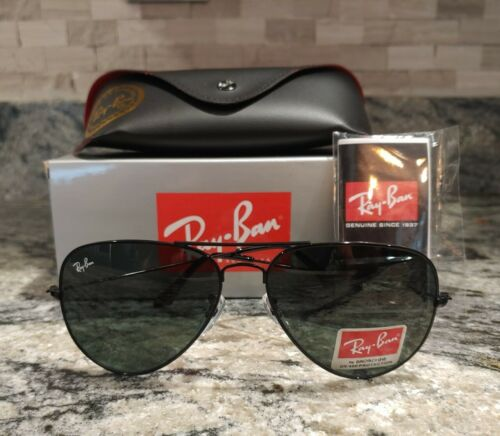 RAY-BAN G-15 AVIATOR RB3025 BLACK FRAME BLACK CLASSIC 58MM. SHIPPING 2-4 DAYS!!!