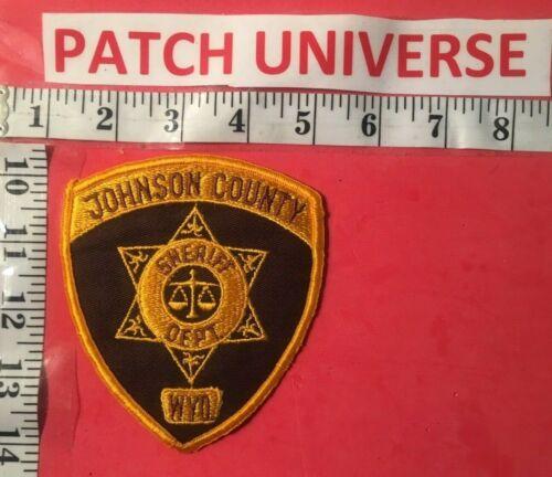 JOHNSON  COUNTY  WYO SHERIFF  SHOULDER PATCH  S075