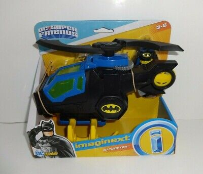 IMAGINEXT DC SUPER FRIENDS BATCOPTER HELICOPTER BATMAN FIGURE FISHER PRICE 2018