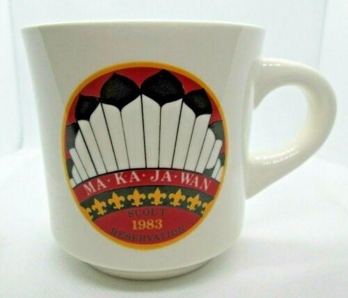 Vintage BSA Boy Scouts of America Mug Camp Ma Ka Ja Wan 1983 Scout Reservation