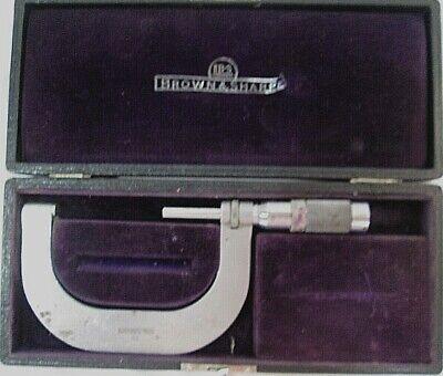 Vintage 52 Brown Sharpe Micrometer W Hard Locking Case