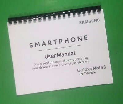 """Samsung Note 8 For T-Mobile Phone 226 Page Laser 8.5X11"""" Owners Manual Guide"""