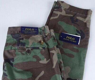 Polo Ralph Lauren Stretch Straight Fit Chino Pants NWT $98.50 Camo Camouflage