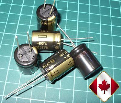 5x Panasonic 820uf Capacitors Low Esr Fm Series 50v 105c - Canada