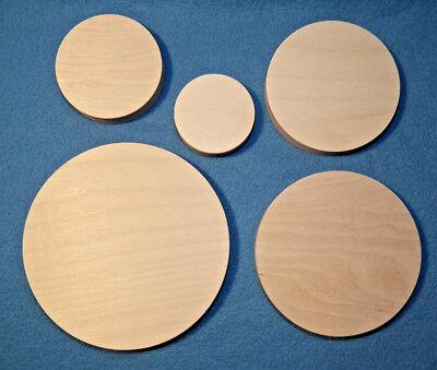 Runde Holzscheibe Birke Multiplex Platte 18mm 40 80 100 120 150 200 Sperrholz