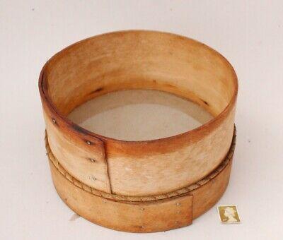Vintage Bent Wood Flour Sieve - Kitchenaila or Seed Sieve