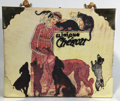 1920s Handbags, Purses, and Shopping Bag Styles Cigar Box Purse Romeo Roma with roaring twenties lady dogs and cats $29.95 AT vintagedancer.com