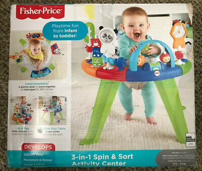 Fisher-Price 3-in-1 Spin & Sort Activity Center, FWY39 - FREE SHIPPING!