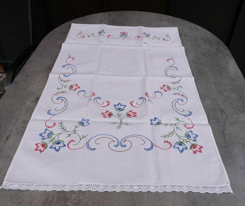 Vorhang für Handtuchhalter Handarbeit Omas bestickter Vorhang