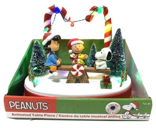 Peanuts Kurt Adler Animated Table Piece Holiday Christmas Seesaw Charlie Lucy