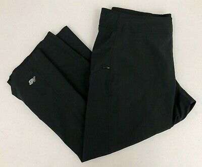 New Balance Black Stretch Poly Athletic Capris Cropped Pants Hike Outdoors Sz S - New Balance Black Capris