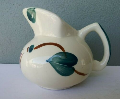 PURINTON POTTERY - IVY RED BLOSSOM - SMALL PITCHER / KENT JUG