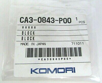 New Genuine Oem Komori Block Ca3-0843-p00 Offset Printing Press Part Printer