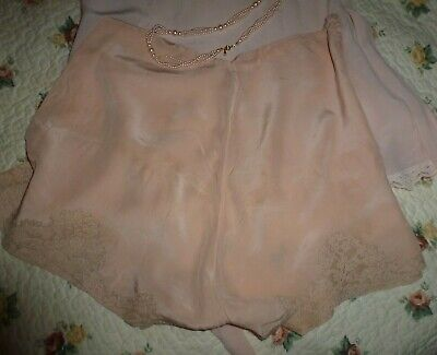 Vintage pure silk and lace cami knickers 1920's/30's  Size medium
