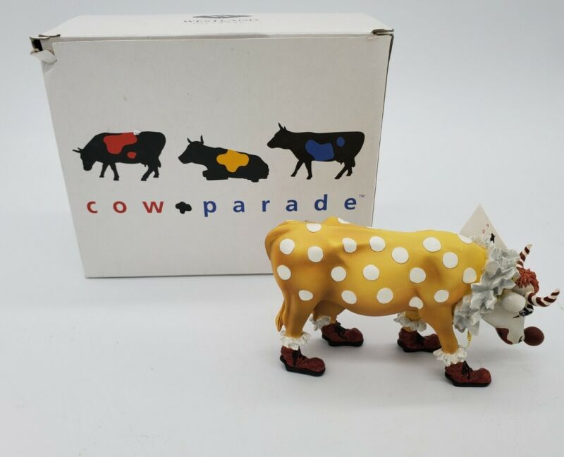 Westland Cow Parade Figurine - You Cant Have A Parade Without A Clown - 9128
