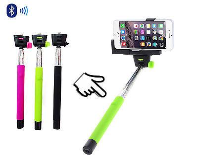 High Quality Green Monopod Selfie Stick Bluetooth Wireless Remote Mobile holder