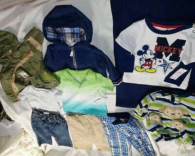 6 month 9 piece baby boy Capsule Wardrobe lot Mickey Plaid Nautica monkeyCharity