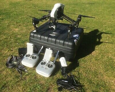 DJI Inspire 1 Pro, remote controllers, batteries, plus extras