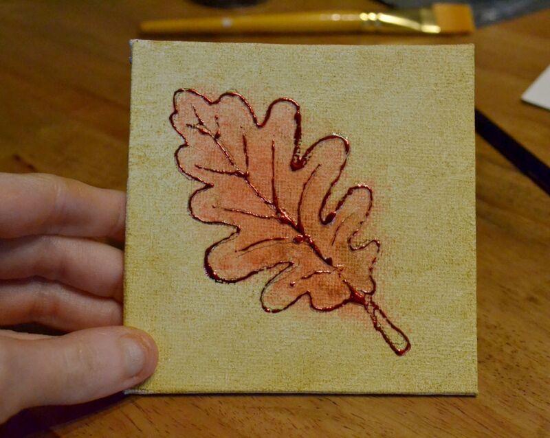 One finished oak leaf!