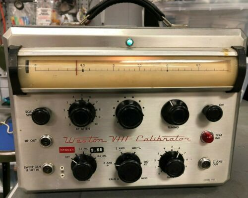 Vintage Used Weston VHF Calibrator Model 985 with Instructions, TV Alignment