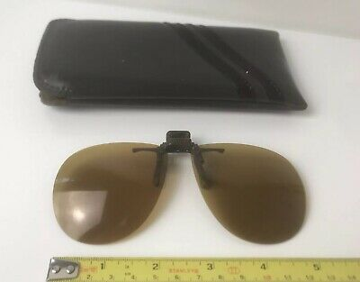 Vintage Hilco USA Clip On Square Visor Shades Glasses D350559 Aviator