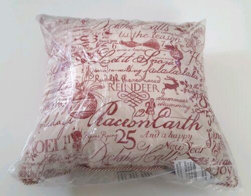 """Pillow Perfect Holiday Poinsettia 18"""" Throw Pillow Christmas"""