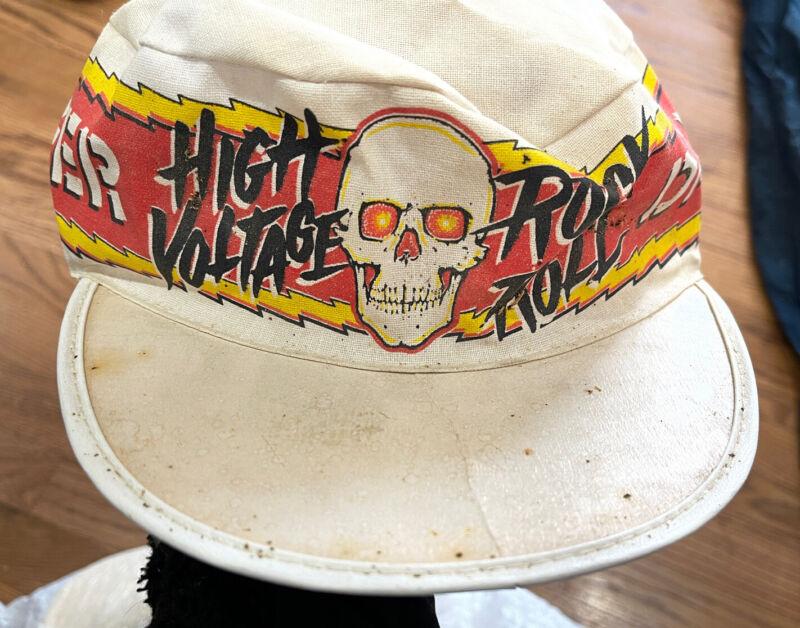 Vintage AC/DC? High Voltage Rock/Roll Promotional Concert Painter Hat/Cap