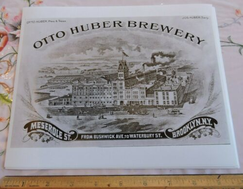 1899 Otto Huber Brewery Beer Bushwick Brooklyn New York City NYC 8x10 Photo