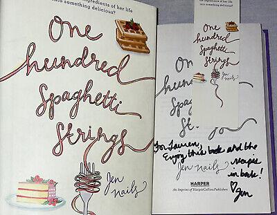 SIGNED One Hundred Spaghetti Strings Book Jen Nails 1st ED. Hardcover HC DJ Mark