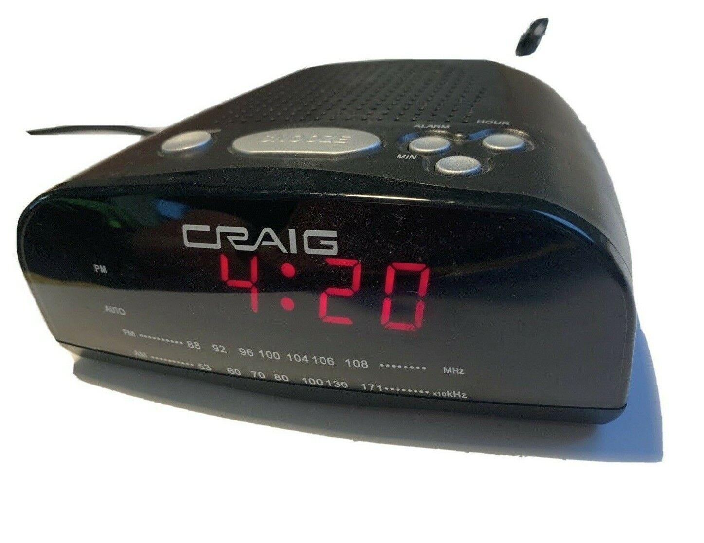 Craig Alarm Clock Radio Am FM CR45329A