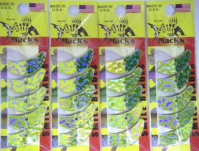 MACK/'S MACKS SMILE BLADES LURE PARTS 4 PACKS TROLLING BLADES 1.5 65346 OR//BLK TG