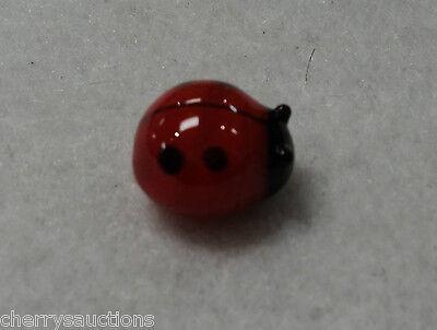 aa Lucky Ladybug MINIATURE GLASS FIGURINE blown art mini tiny symbol love luck