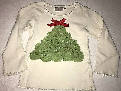 One Posh Kid Boutique Christmas Tree Long Sleeve Tshirt Size 4
