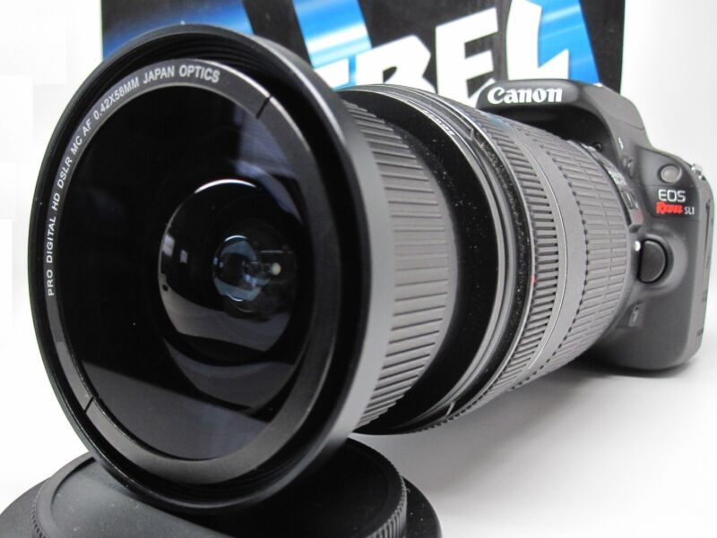 Ultra Wide Angle Macro Fisheye Lens for Canon Eos Digital Rebel w/ 28-135 18-200