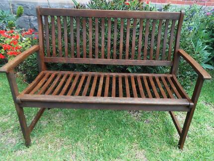 Wooden bench seat in good condition