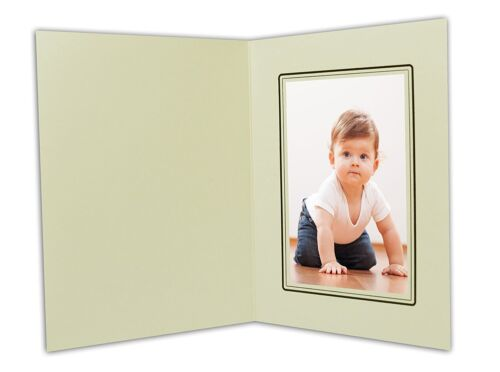 Cardboard Photo Folder For a 4x6 Photo (Pack of 100) GS001-S Ivory Color