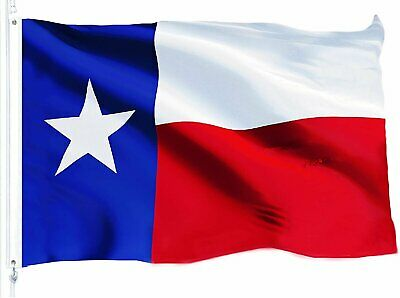 TEXAS STATE FLAG 3×5 Foot Polyester Lone Star TX USA Banner Red White Blue Décor
