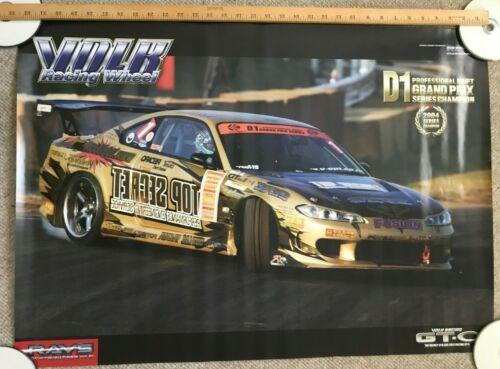 Rays Volk Racing GTC D1 Grand Prix Nissan S15 Silvia Drift Japan JDM Poster 2004