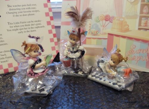 MY LITTLE KITCHEN FAIRIES - 3 PC. LOT  -  FRENCH MAID. LIL SCRUBBER & WAITRESS