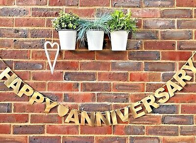 Wedding Anniversary Golden Silver Diamond Ruby Wedding banner Bunting