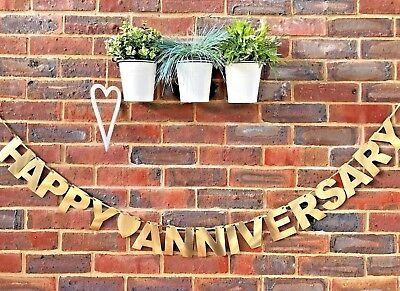 Wedding Anniversary Golden Silver Diamond Ruby Wedding banner Bunting (Silver Wedding Anniversary Banners)