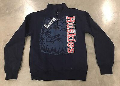 Gear For Sports Connecticut Huskies Long Sleeve Pull-Over Navy Blue SZ XS