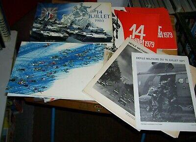 DEFILE MILITAIRE DU 14 JUILLET 1971 - 1986 PROGRAMMES BASTILLE DAY FRANCE