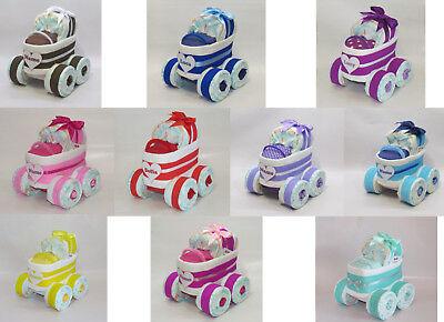 Windeltorte - Windelkinderwagen XL-Reifen - viele verschiedene Farben - Geburt