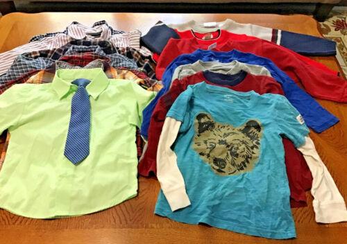 Lot Of 21 Size 4/4T Boys Fall/Winter Clothes Shirts, Pajamas, Pants, Coat