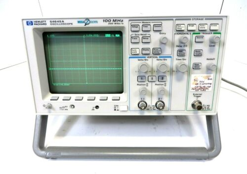 HP MEGA ZOOM 54645A 2 Channel 100 MHz Oscilloscope, Good Working .
